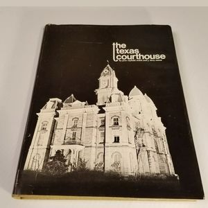 Vintage The Texas Courthouse BW Photo Book…